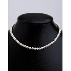 FRESH WATER PEARL WHITE ROUND BEADS 5,5-6mm STRING 40cm